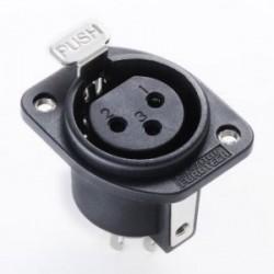 Furutech High End Performance Female XLR socket - Rhodium plated, FT-786F(R)
