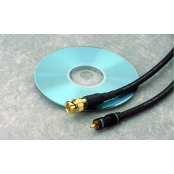 75 Ohm Coaxial Digital cable, 0.5 meter. Terminated with RCA connectors. Includes display packaging.