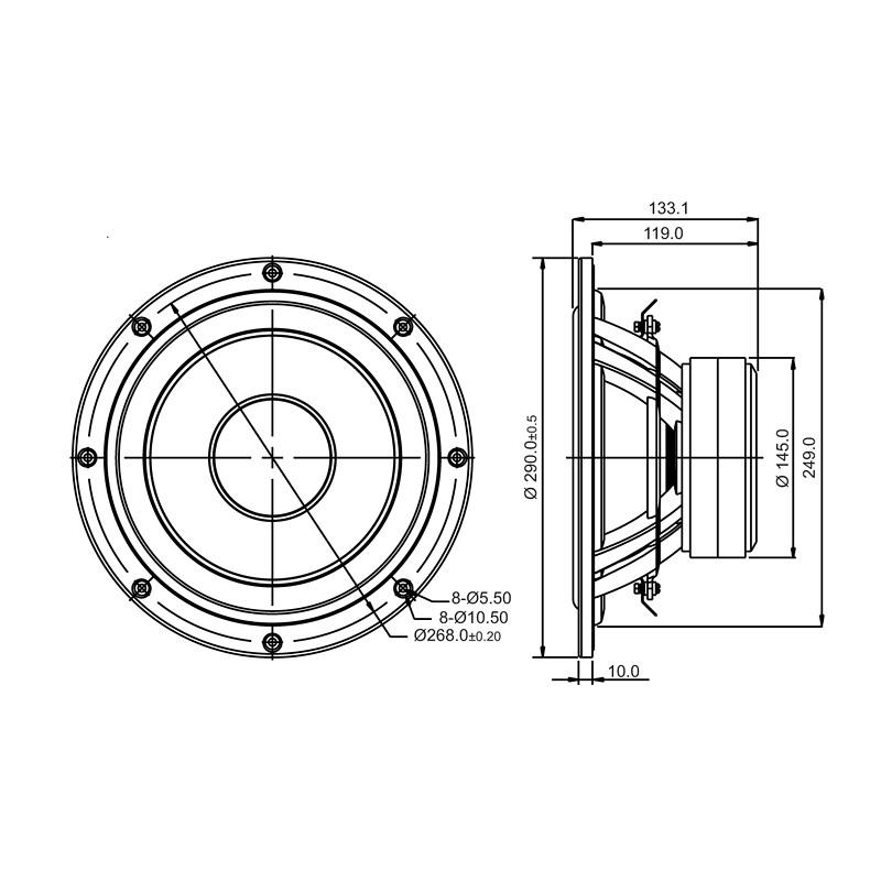 Sb Acoustics 10 Subwoofer 75mm Vc Nrx Sb29swnrx S75 6