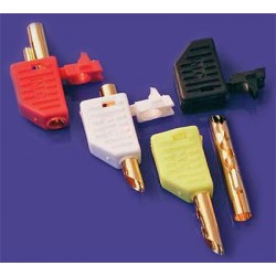 Mundorf MConnect Banana plugs, Beryllium-copper, gold plated, white