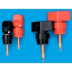 Binding posts 6 mm, brass, insulation red
