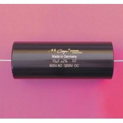 Capacitor MKP Mundorf MCap Supreme silver/gold 1200 VDC 0.1 uF