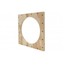 EarthquakeSound WBB-FP-6 Wood Front Plate with 206mm cutout hole