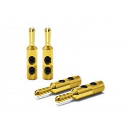 Oyaide Banana plug w/screw clamp set (gold plating) 4pcs set GBN