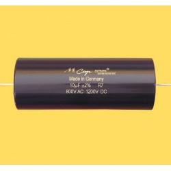 Capacitor MKP Mundorf MCap Supreme silver/gold/oil 1200 VDC 0.1 uF