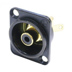 Hypex DIY Class D Connection material Neutrik RCA female chassis black