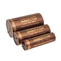 Capacitor Jantzen Amber Copper Z-Cap 200 VDC 3,3 uF