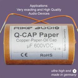 Rike Audio Copper/Paper/Oil Q-CAP2 PIO capacitor 10uF 600V