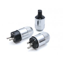 Oyaide SCHUKO Power plug (platinum/palladium plating) M1e