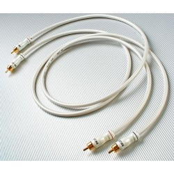 White Lightning Interconnect, 0.5 meter pair, terminated with RCA connectors