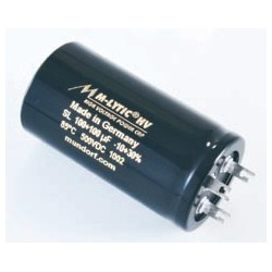 Capacitor Mundorf MLytic HV Power Cap 32+32uF 500VDC 85C 3pin, MLSL500-32+32