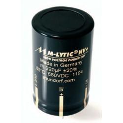 Mundorf MLytic® HV+ High Voltage Power Capacitor, MLGO+550-100