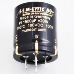 Mundorf MLytic® AG+ 1500uF 160V 4-Pin Power Capacitor, MLGO+160-1500