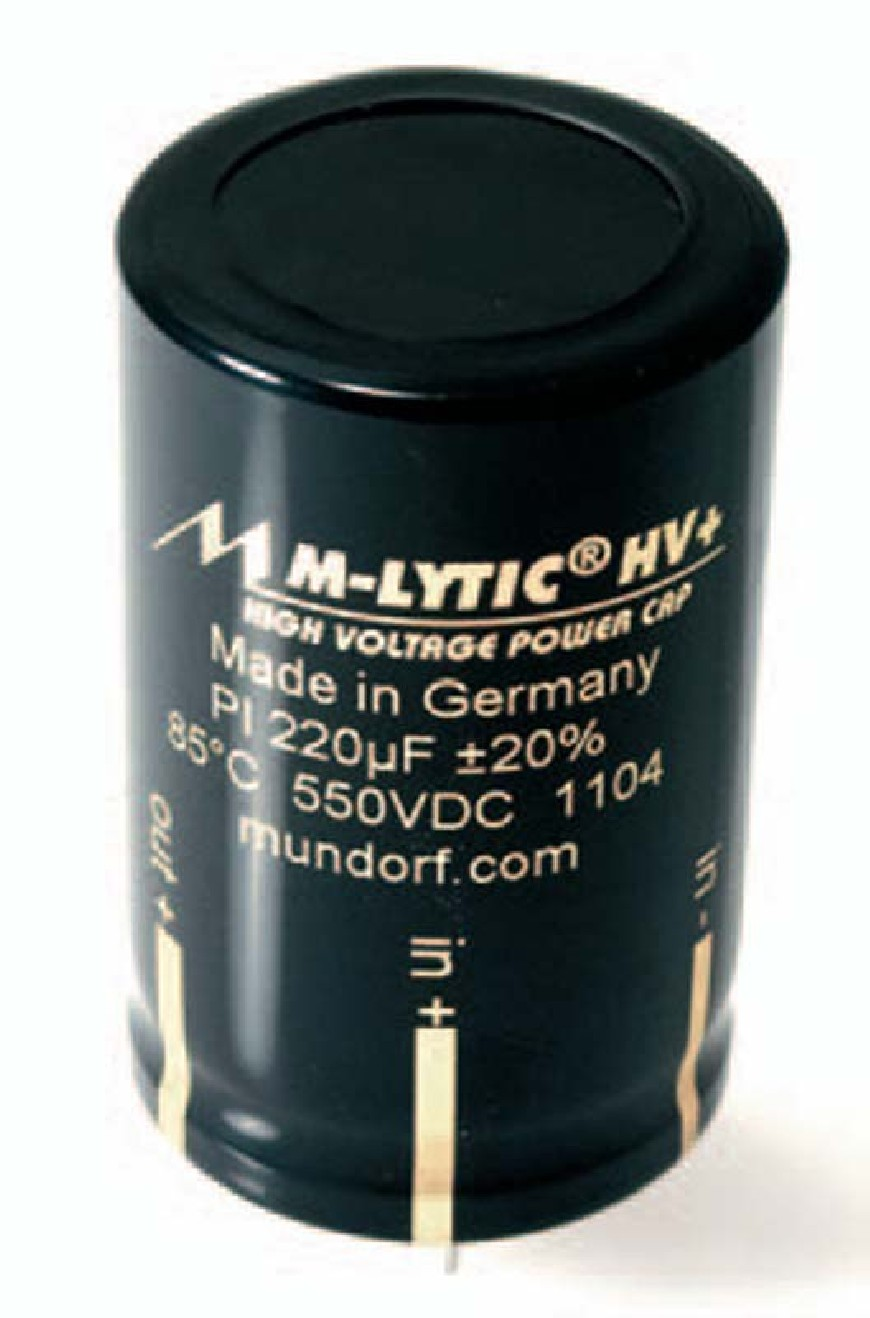 High Voltage Capacitors : Mundorf mlytic hv pin power high voltage capacitors