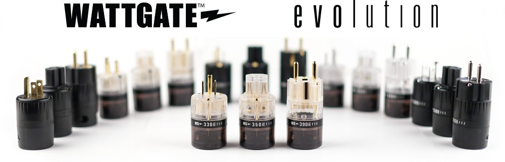 Wattgate EVO, Standard, Audiograde Gold, Rhodium, Silver